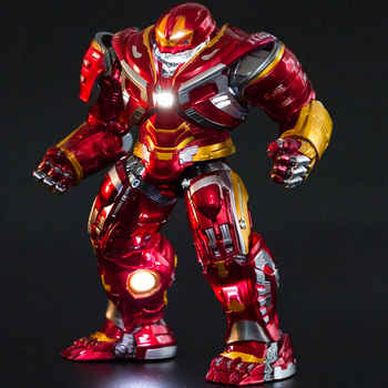 20cm Avengers Infinity War Hulkbuster Mark 49 LED Light Model Toy PVC New Collectible Hulkbuster Action Figures Toys Gift