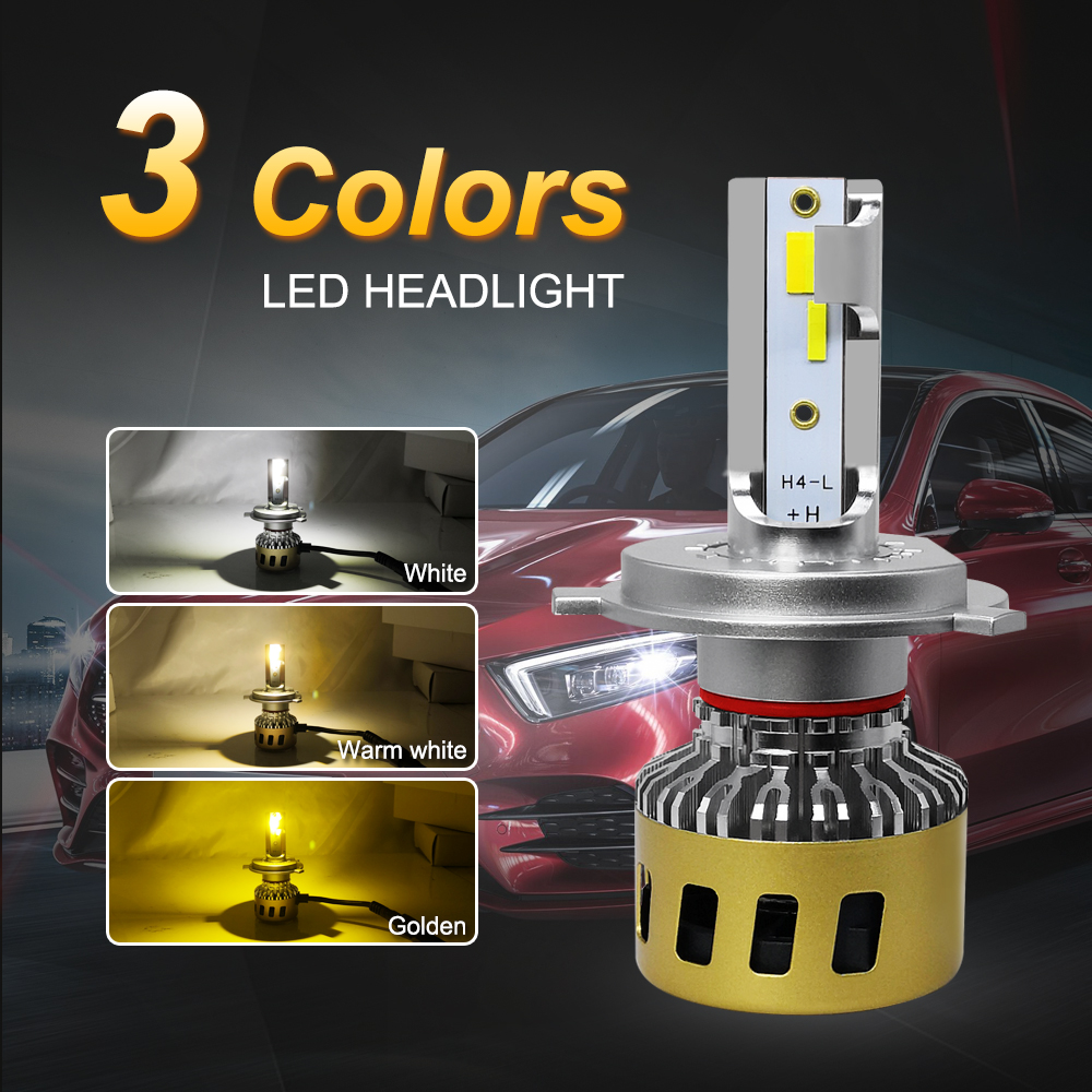 Image 2 - Roadsun H4 LED Headlight H1 H7 H11 HB3 HB4 H8 Led Lamp for Car  Three Color Temperature Changeable 3000K 4300K 6000K Auto Bulb-in Car Headlight Bulbs(LED) from Automobiles & Motorcycles