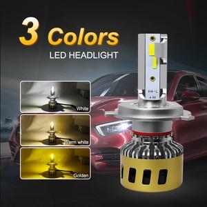 Image 2 - Roadsun lâmpada led para farol, h1, h7, h11, hb3, hb4, h8, três cores, alterável, 3000k lâmpada automática 4300k 6000k
