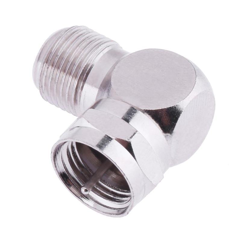 1 x New F Male to F Female in Series Right Angle RF Adapter Connector