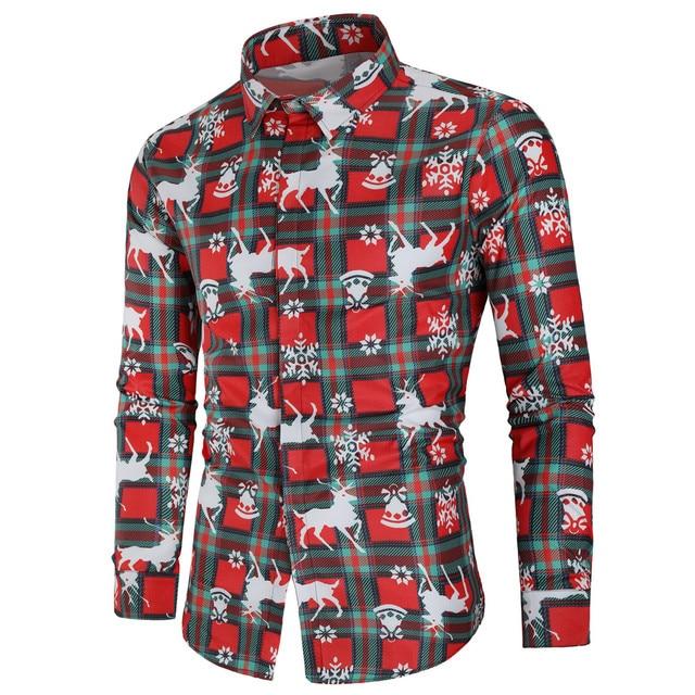 kerst blouse man