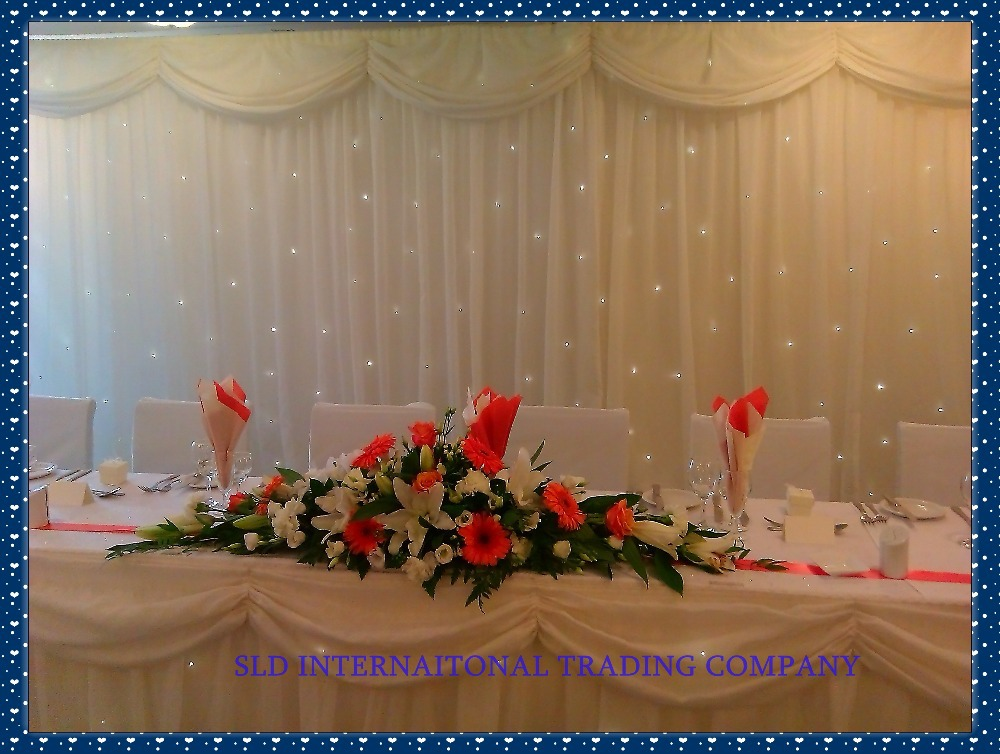 3m x 3m White Wedding Curtain Backdrops Drape Wedding ...