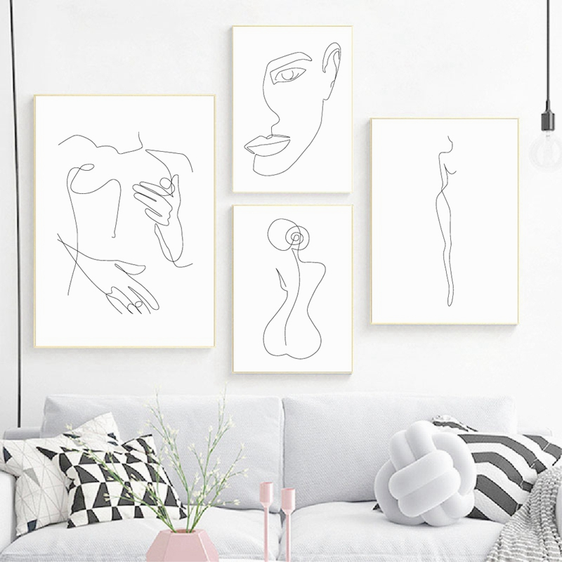 Feminine Figure Wall Art 9