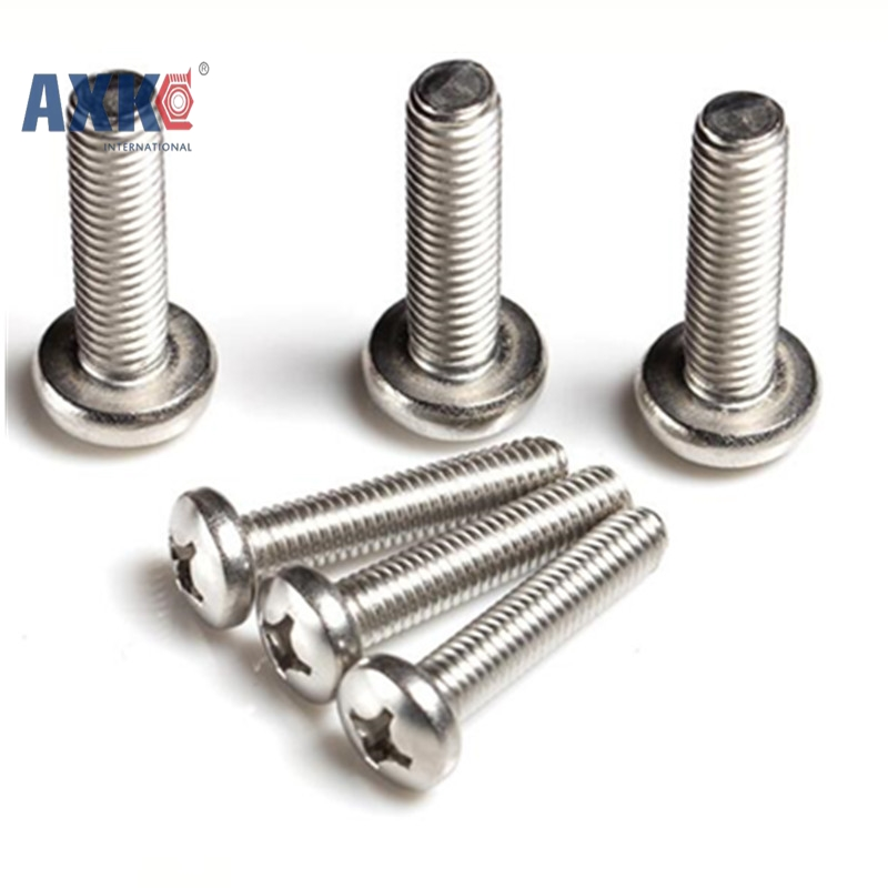 100Pcs ISO7045 GB818 M2 M2.5 M3 Nickel-plated Pan Head Phillips Screws AXK028 300pcs set iso7045 din7985 gb818 m2 m2 5 m3 nickel plated cross recessed pan head phillips screws hw028