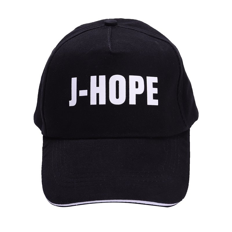 2018 New Mens Snapback Hats Letter Print Fashion Young BTS Boys Cap Hats Adjustable Baseball Cap Group Name Print Cool Hat ...