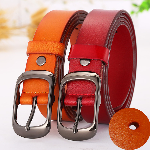 High Quality Leather Pin Buckle Belt For Women