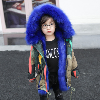 New Fashion 2018 New Product Girls and Boys Winter Clothing Imitation Fox Fur Overcoat Removable Faux Fur Coat Long Padded CoatNew Fashion 2018 New Product Girls and Boys Winter Clothing Imitation Fox Fur Overcoat Removable Faux Fur Coat Long Padded Coat