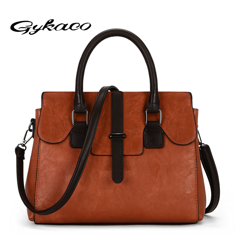 Gykaeo Fashion Luxury Handbags Women Bags Designer Tote Bag Ladies PU Leather Large Capacity Messenger Shoulder Bags Sac A Main luxury handbags women bags designer brand famous scrub ladies shoulder bag velvet bag female 2017 sac a main tote