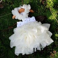 Partido de la Princesa de Novia de Encaje de Flores de algodón Perro Vestido de Ropa Para Perros de Perrito Del Gato Del Perro Del Animal Doméstico Ropa de Productos Para Mascotas XS-XL