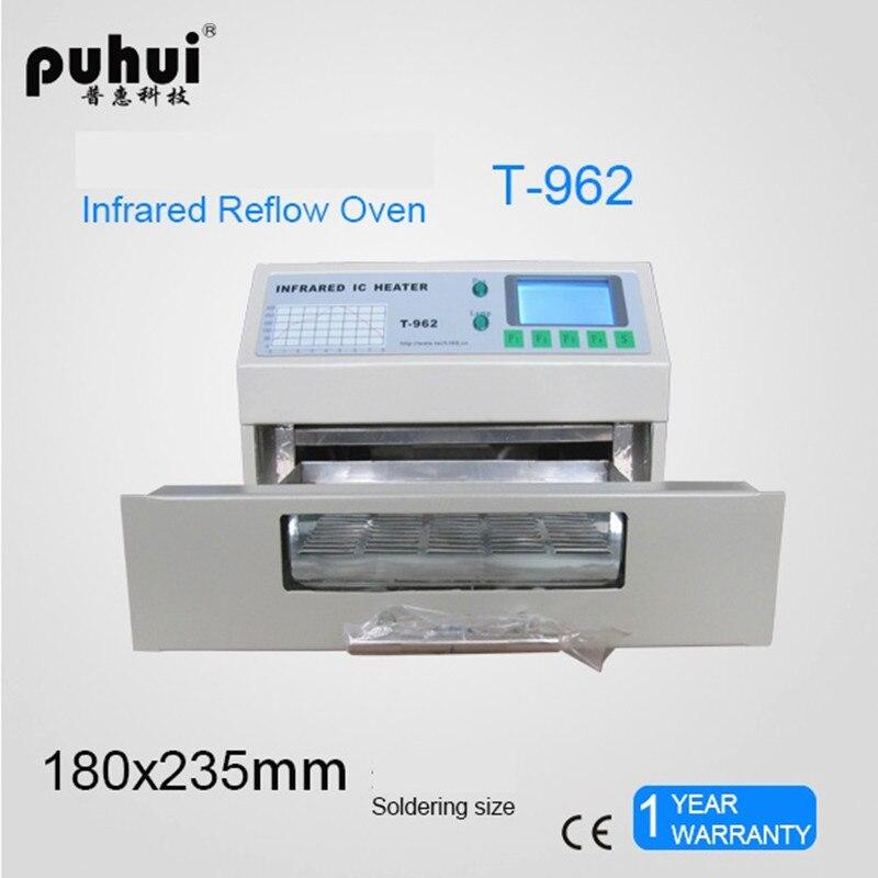 T-962 110V/220V 800W Desktop Reflow Oven Infrared IC Heater Soldering Machine 800W 180 X 235mm T962 For BGA SMD SMT Rework