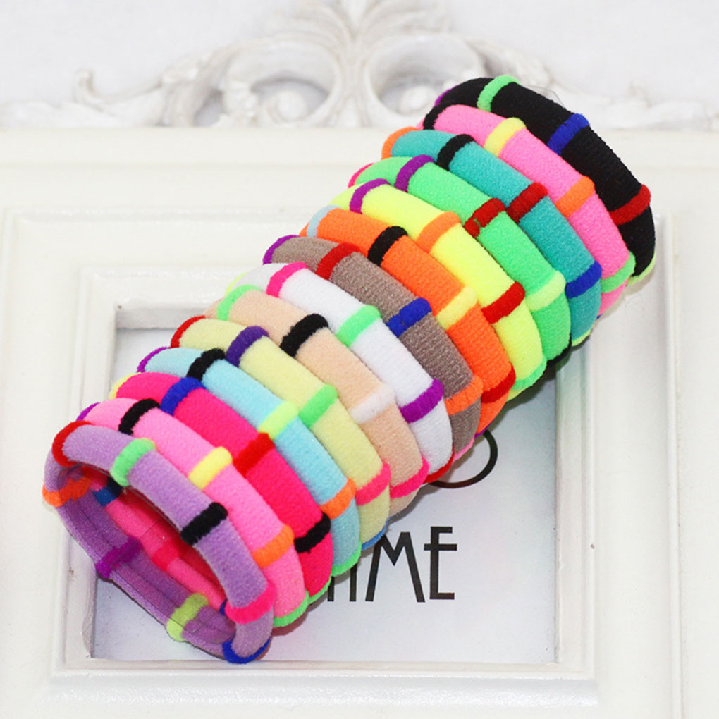 12pcs Color Random Girls Elastic Hair Bands Rubber Headbands Cute Head Decoration Accessories(China)