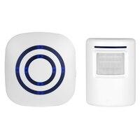 Smart Visitor Door Bell Chime Wireless Home Security Driveway Alarm Security Alert Weatherproof Alert System Kit