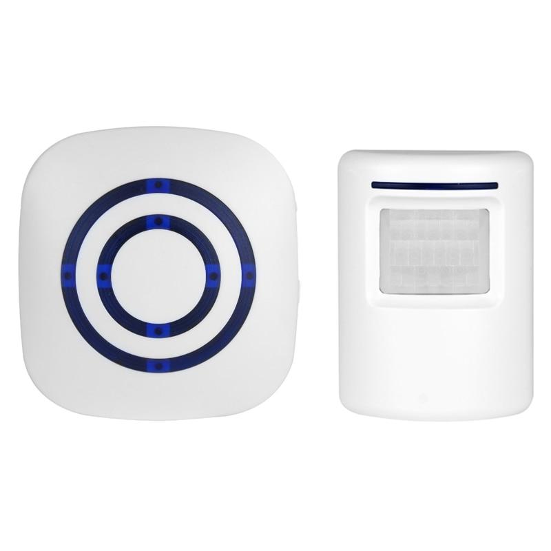 Smart Visitor Door Bell Chime Wireless Home Security Driveway Alarm /Security Alert Weatherproof Alert System Kit-38 Melodies