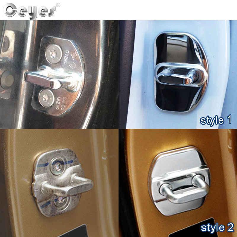Accessoires de couverture de serrure de porte automatique de style de voiture Ceyes pour Renault scénic Captur Megane 2 3 4 Duster Fluence Clio Kadjar autocollant Oem