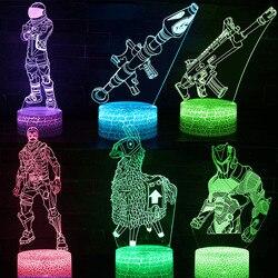 Fortnight Toys NightLight LED Sleep Light Projection Lamp Fortnight Battle Royale Scar RPG Gun Game Accessories Kids Gifts