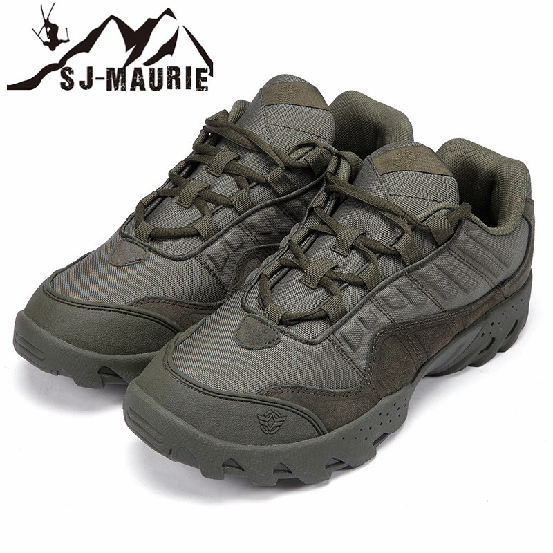 SJ Maurie Outdoor Men Shoes Waterproof Hiking Tactical Combat Army Desert Men Hiking Boots Anti Slip