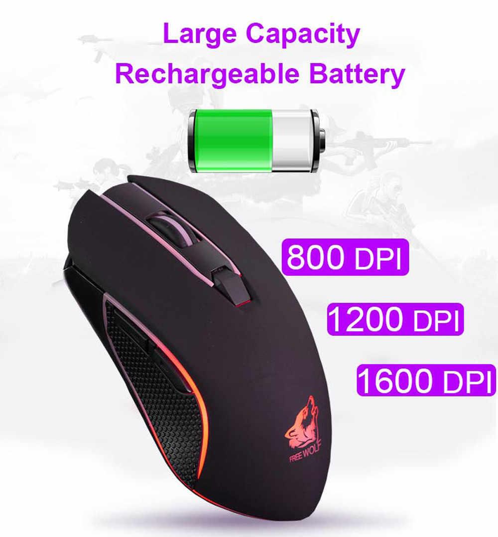 8878c51ad93 ... EPULA 2019 Fashion Wireless Mouse Mice Rechargeable X9 Wireless Silent  LED Backlit USB Optical Ergonomic Gaming ...