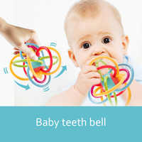 Baby Teeth Bell Safe Soft Rattles Balls Sensory Teethes Activity Toys For Infant Educational Grasping Develop Intelligence