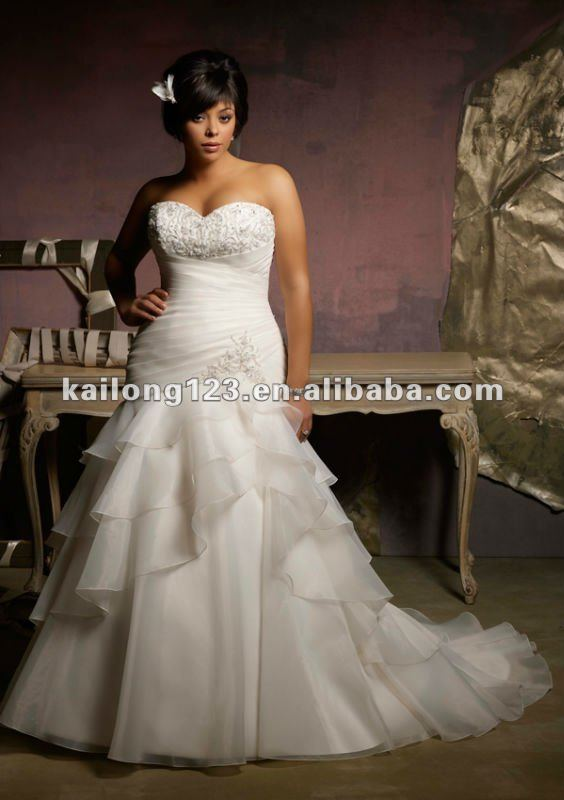 Plus Size Sweetheart Drop Waist A Line Crystal Beading Ruffled Organza Bridal Gowns In Wedding Dresses From Weddings Events On Aliexpress Alibaba