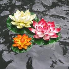 Artificial Foam Plants Lotus Flower Landscape Mini Bouquet Wedding Decoration Fish Tank Floating Water Lily