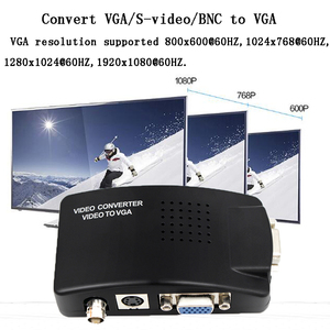 Image 5 - VGA BNC SVIDEO to VGA Video Converter VGA Out Adapter BNC to VGA Converter Composite Digital Switch Box Box  WITH DC CABLE