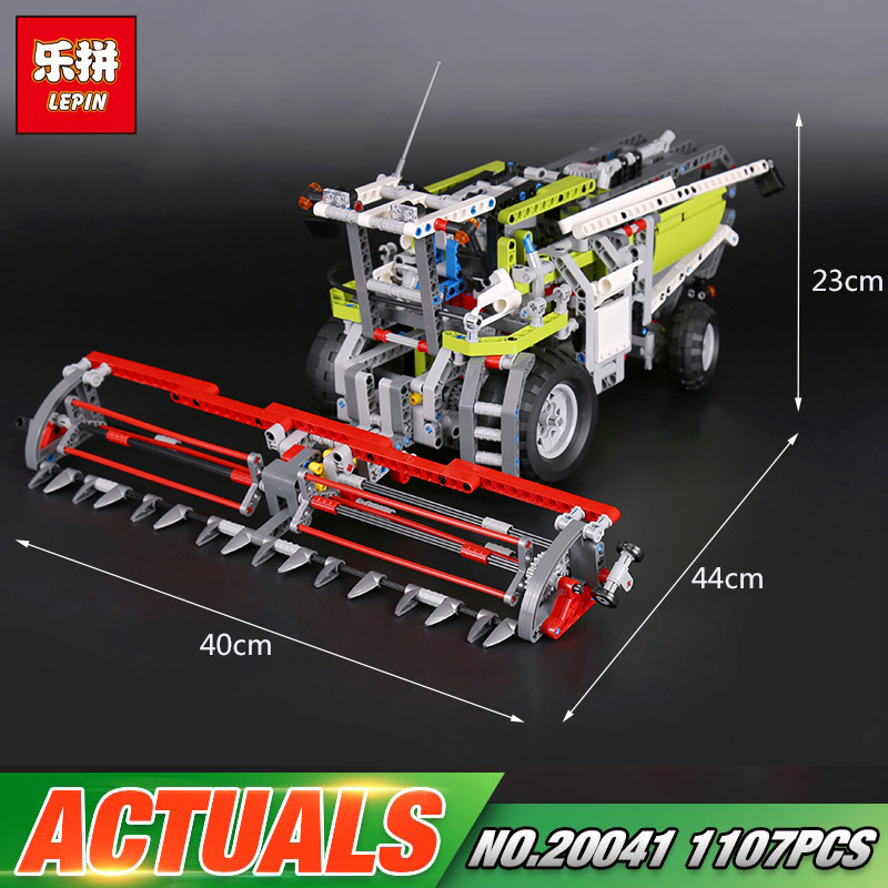 Lepin 20041 1107Pcs Technic Series The Combine Harvester Sets LegoINGly Blocks DIY Building Bricks Kids Toys 8274  LegoING lepin 42010 590pcs creative series brick box legoingly sets building nano blocks diy bricks educational toys for kids gift