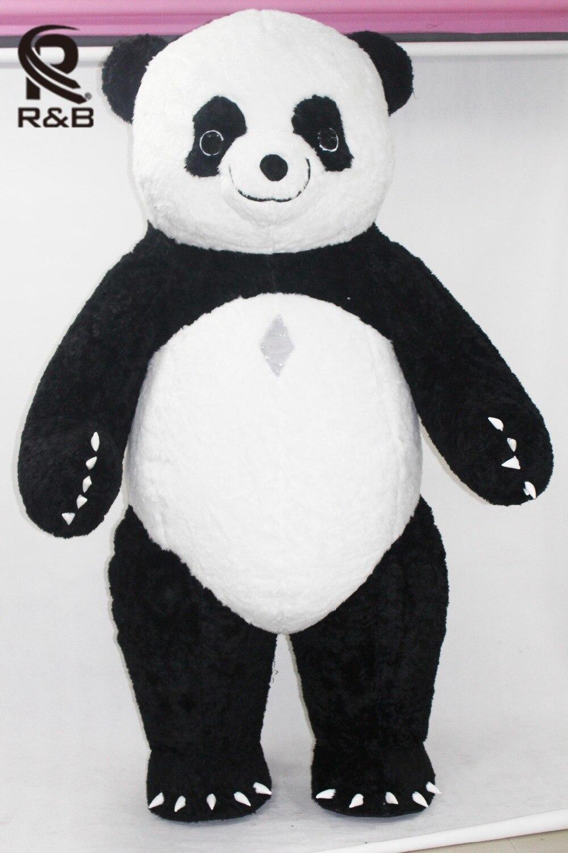 Nouveau Style Gonflable Panda Costume Gonflable Panda Pour La Publicité 3 M Grand Personnaliser Pour Adulte Approprié Pour 1.7 m À 1.85 m Adulte