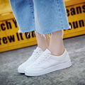 2016 Women Shoes PU Leather Loafers Flats Girls Lace-Up Lazy Shoes Popular Superstar Shoes Women