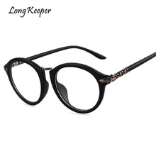 f4693eb83ad3f Long Keeper Hot Sale Eyeglasses Frame For Women Men Spectacle Oval Computer  Clear Lens Vintage Retro Unisex Eyewears PSTY621