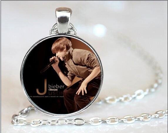 hot Star Bright Justin Bieber Necklaces Pendants Fans Favorite Brand Star Colares Femininos Collares 2015