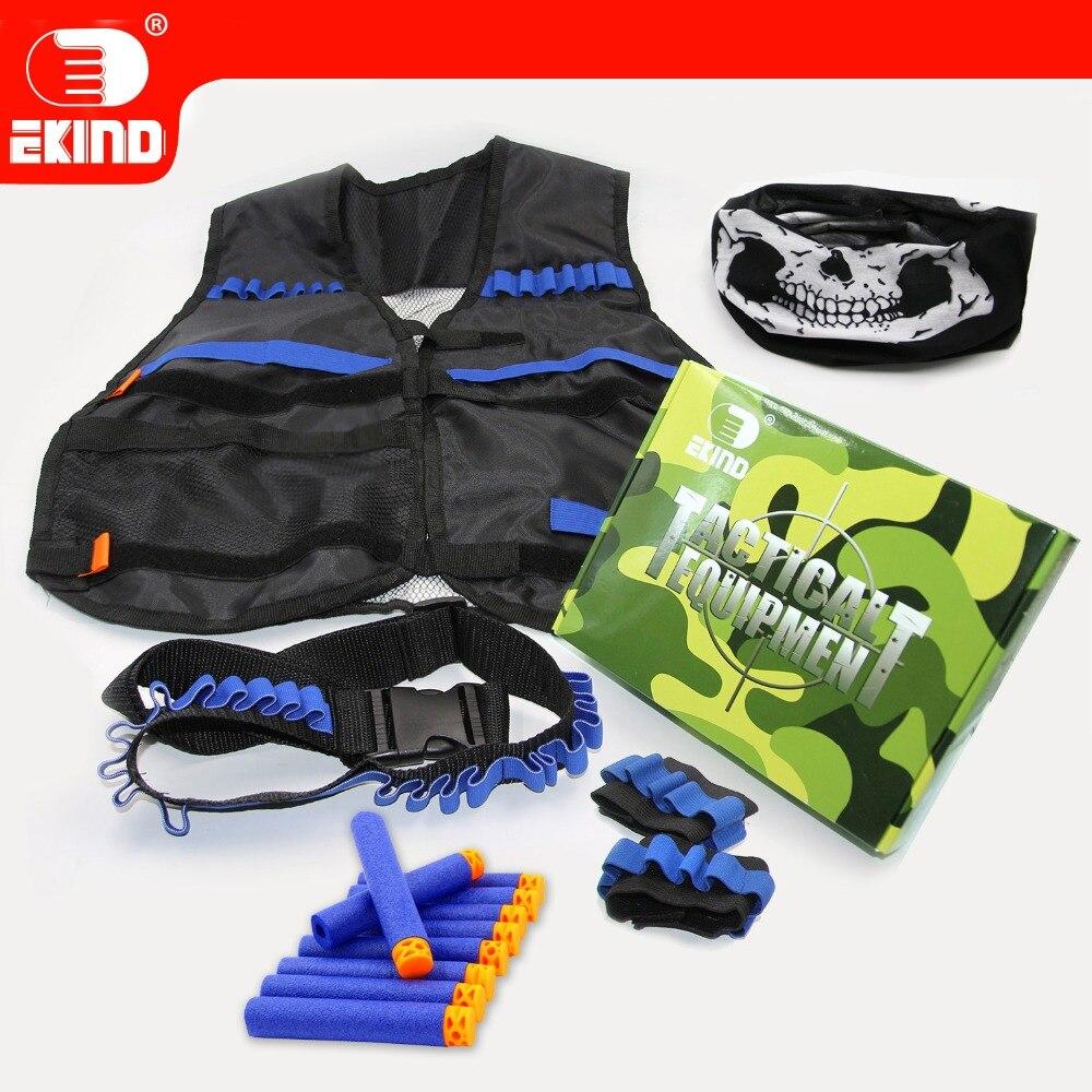Máscara de caveira Tático Equipamento Novo Conjunto de kit Para Nerf EKIND N-strike Elite Jogo de Arma