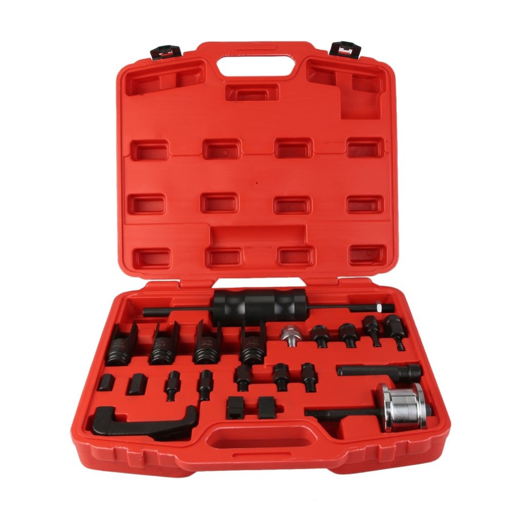 23 PCS/Set Fuel Injector Puller Set Professional Remover Tool Universal Disassemble Assemble Repair Kit Vehicle Hand Tools цена