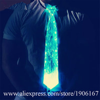 Colorful Led Fiber Optic Luminous Ties For Men Women Glowing Light Up Party Necktie Christmas Halloween Event Illuminated Wears