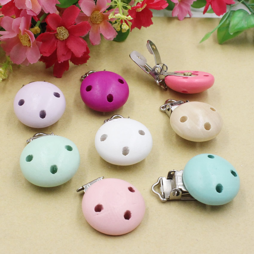 2pcs/lot Colorful Wooden Baby children Beads Clasps For Baby Product 29x45mm K05493