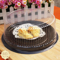 wholesale 100pcs big round cake box/ 8 inches cheese box /clear plastic cake container / big cake decoration holder