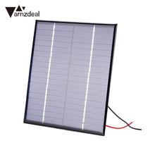 Amzdeal 2W DC18V Mini Solar Panels Polycrystalline Battery Charger DIY Module 110x136x3mm Outdoor Solar Cells Phone Charging
