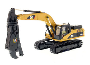 Norscot 1:50 Caterpillar Cat 336D L Tracked Excavator with Scrap Shear Engineering Machinery DieCast Toy Model 55283 Collection