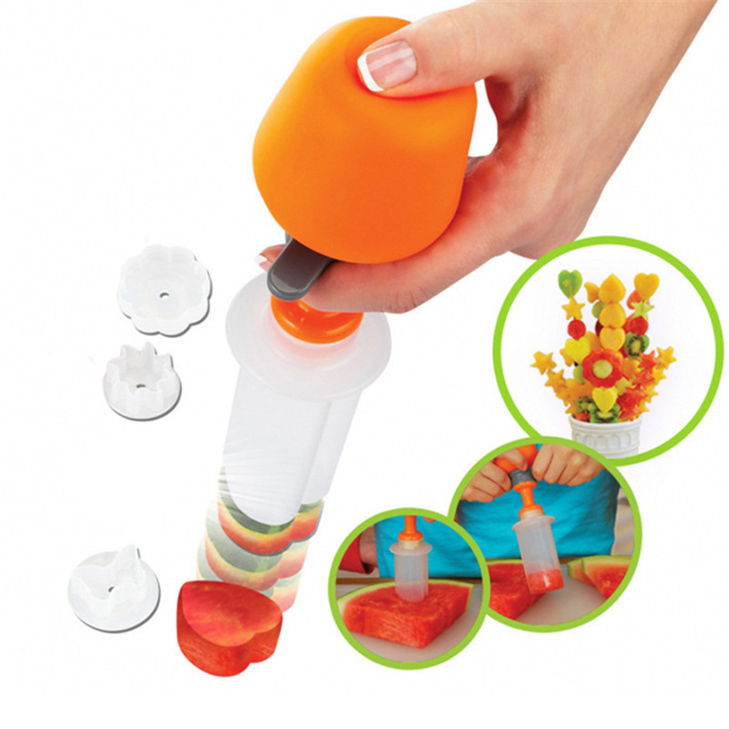 Plastic Cake Cookie Vegetable Fruit Shape Cutter Slicer Veggie Mold Set DIY Decorating Tools Kitchen Accessories