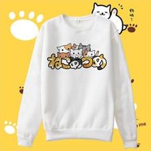 Kawayi Anime Cosplay Vestidos Sweet Cat Impreso Con Capucha Hombres Mujeres Tops Sudaderas Amantes Novios Trajes