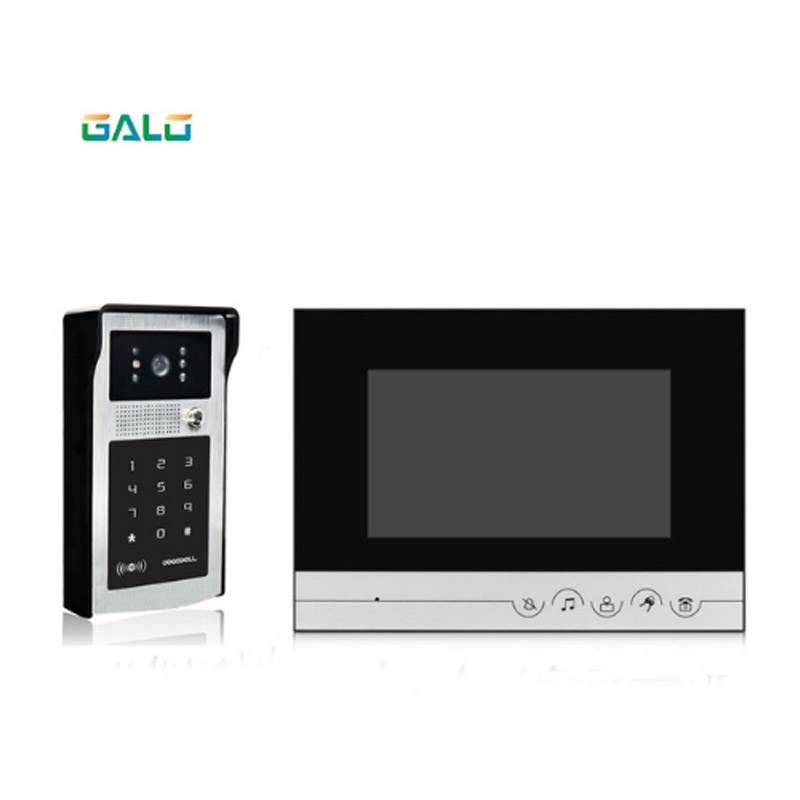 7 Inch Security Building Video Door Phone Touch Button Doorbell With Good Night Vision