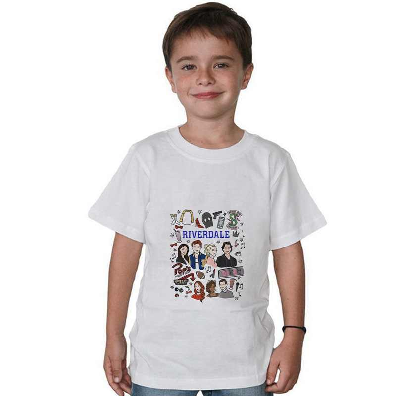 Hot Tv Riverdale Children Print Cotton O-NECK Short Sleeve T-Shirt Cool Design Soft White Tee A193111