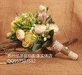 2017 Дешевые Свадебные/Невесты Свадебный Букет Романтический Красивые Красочные Ручной Работы Искусственные Букеты букет де mariage