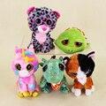 15cm Ty Beanie Boos Big Eyes Zippy Tortoise Spots Leopard Fox Green Dragon Pink Unicorn Plush Toy Doll