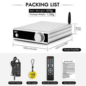 Image 5 - Nobsound HiFi ستيريو بلوتوث 5.0 TDA7498E مكبر كهربائي مع NFC نشط مضخم صوت سماعة أمبير USB/OPT/COAX DAC فك