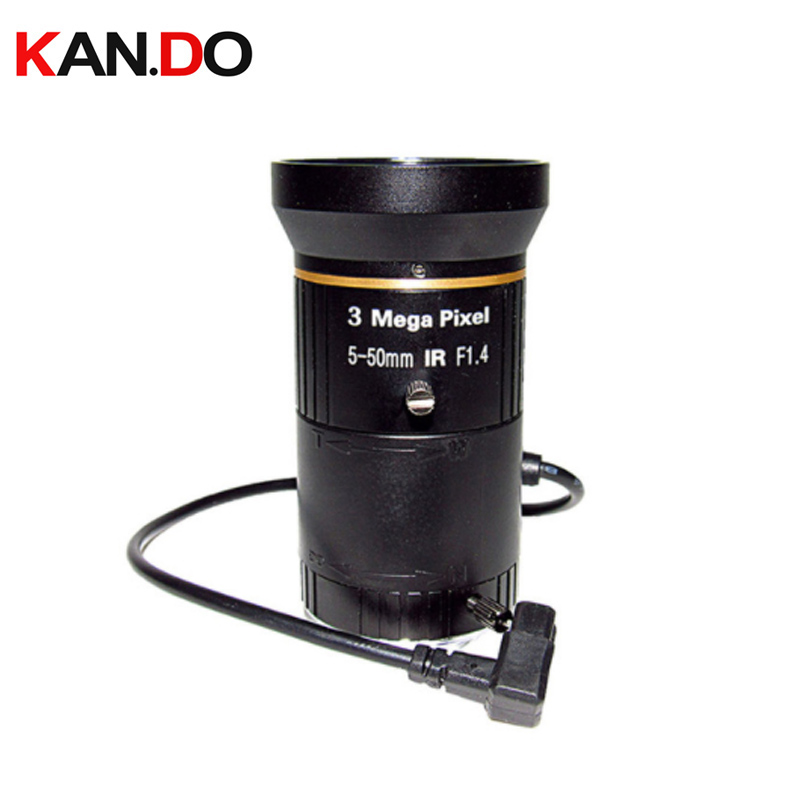 3.0Megapixel Varifocal 5 50mm lens IR CCTV Camera Lens 1/2.5 IP Lens Road Security Lens CS Mount F1.4 Auto Iris