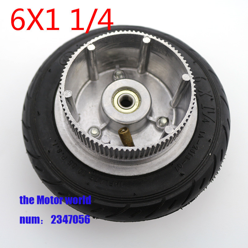 Räder & Felgen Modestil 6x1 1/4 Reifen Rad 150mm Roller Rad Aluminium Hub Innenrohr Rad Elektrische Roller 6 Zoll Pneumatische Reifen Elektrische Roller