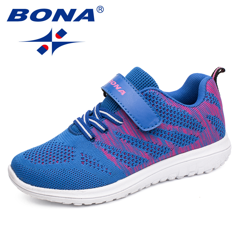 BONA New Arrival Popular Style Children Casual Shoes Mesh Sneakers Boys & Girls Flat Child Running Shoes Light Fast Free Shippin 2