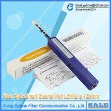 Fiber optik Iletişim araçları tek Tıklayın 1.25mm LC Konektörü Fiber Optik Temizleyici ve LC MU Fiber Optik Temizleme Kalemi