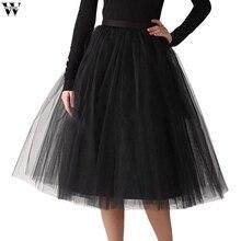 63a5160b4e Nueva falda de las mujeres de moda falda de tul Rosa Tutu falda enagua de  Vintage