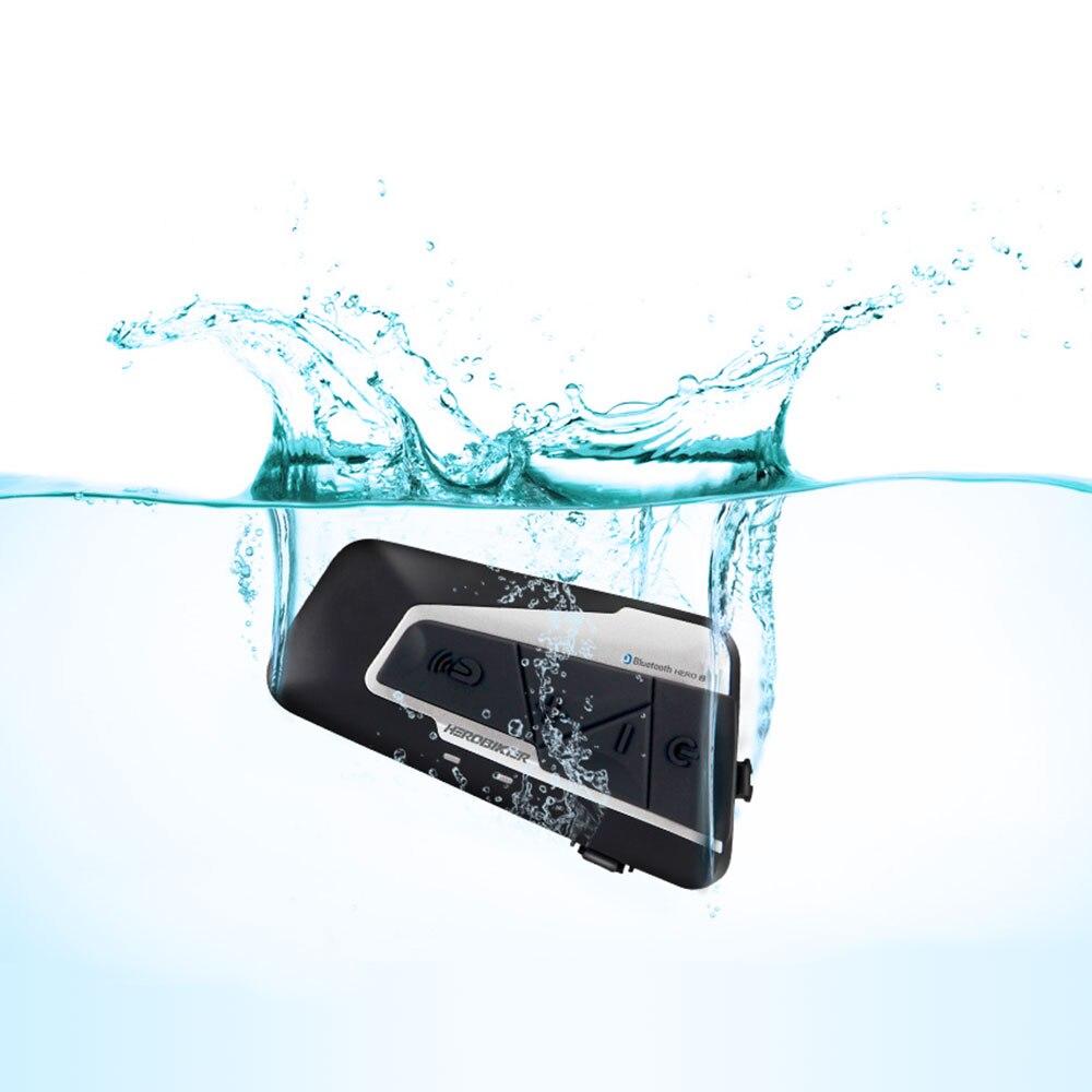 HEROBIKER 1200 M Bluetooth Interphone Moto casque Interphone casque étanche sans fil Bluetooth Moto casque Interphone - 4